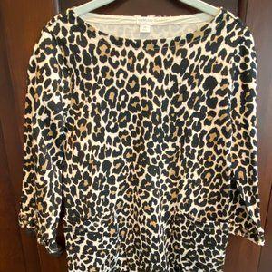 NWT Girls Cheetah print cotton knit dress size 14